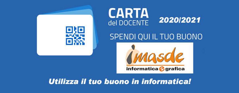 Carta Docenti: attivato bonus 500 euro per l'anno 2020/2021.