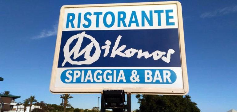 Nuova Insegna del Ristorante MIKONOS a Santa Marinella